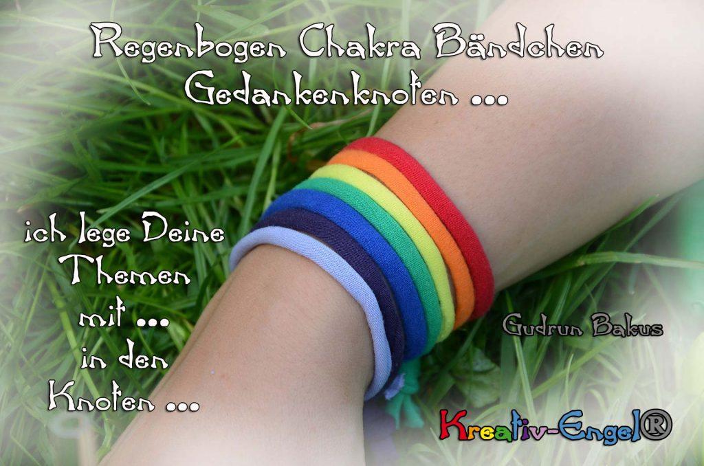 Regenbogen Chakra Bändchen Gedankenknoten Kreativ-Engel®