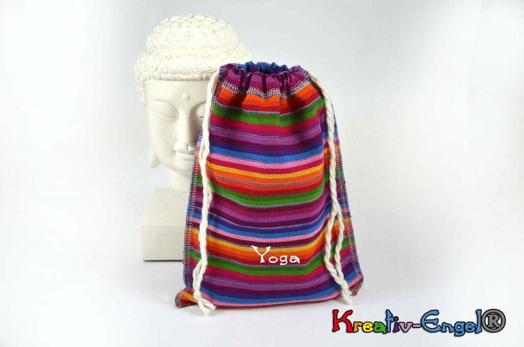 Große Säckchen regenbogen Yoga weiß Kreativ-Engel®